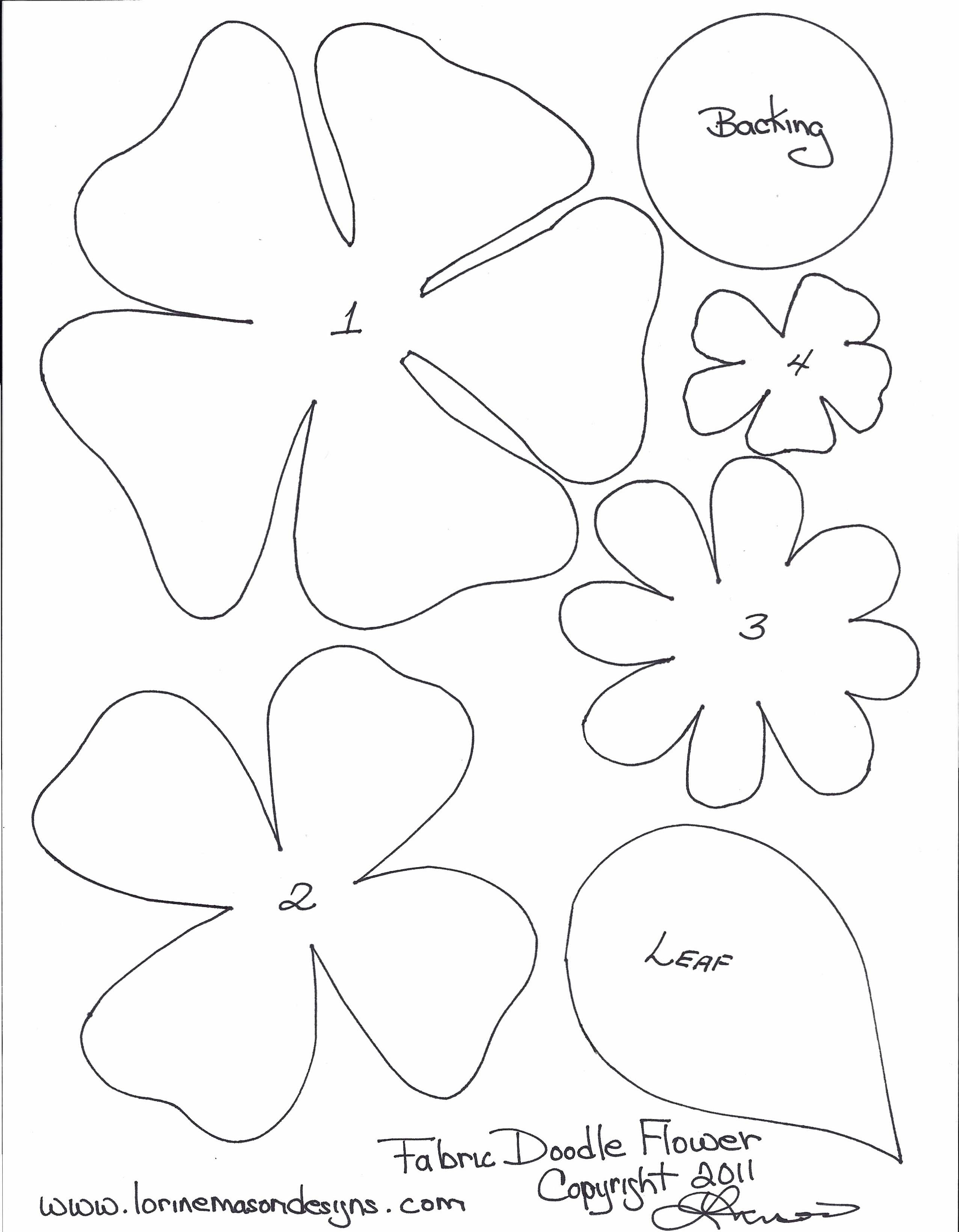 6 Images of Paper Flower Template Printable