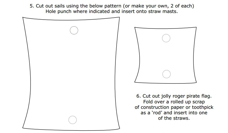 5 best images of printable picture of a sail simple With pirate ship sails template
