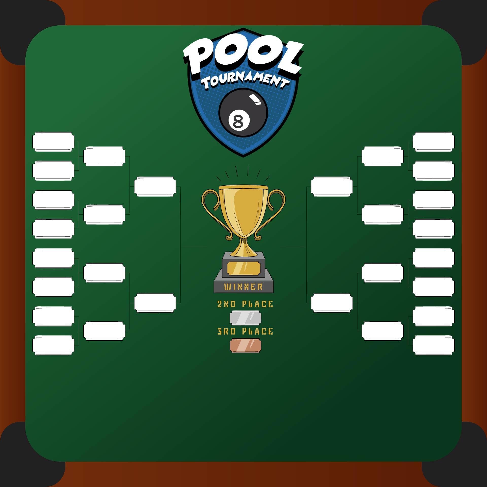 Pool Tournament Template