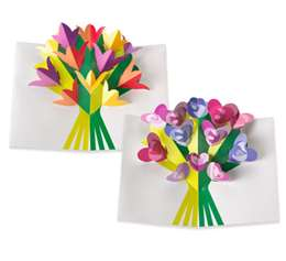 6 Images of Printables Pop-Up Card 3D Flowers