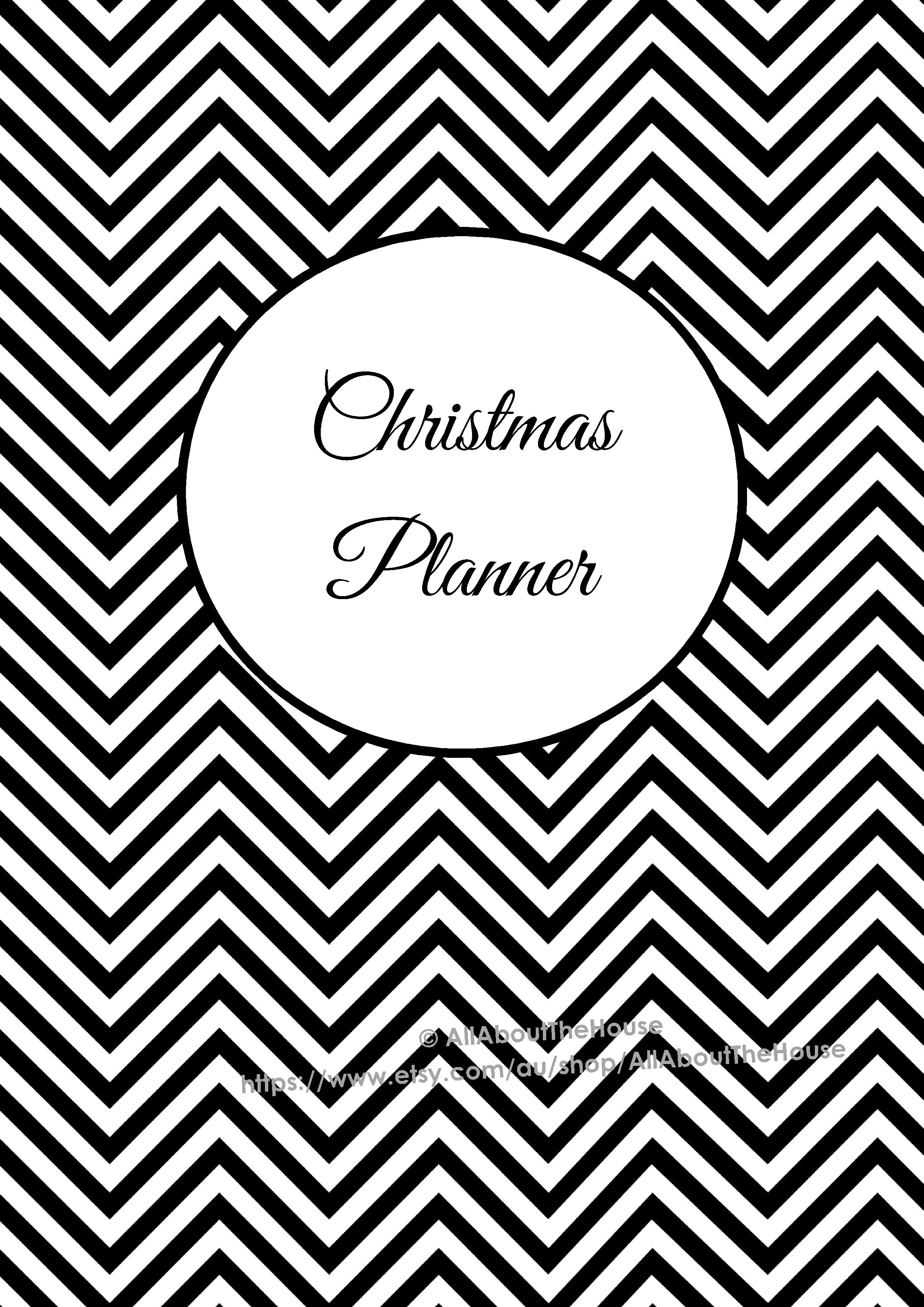 5 Images of Printable Christmas Planner Cover