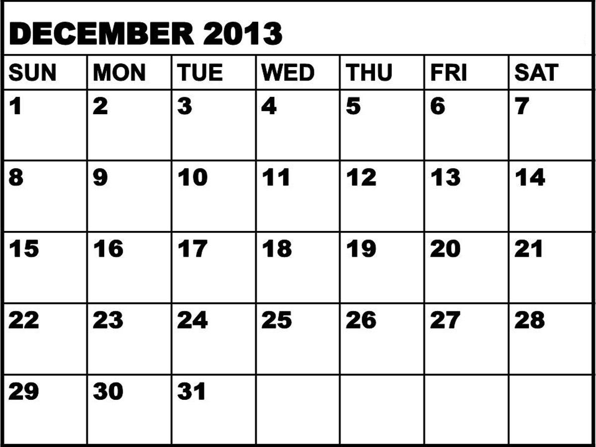 See printable december 2013 calendar template printable december 2013
