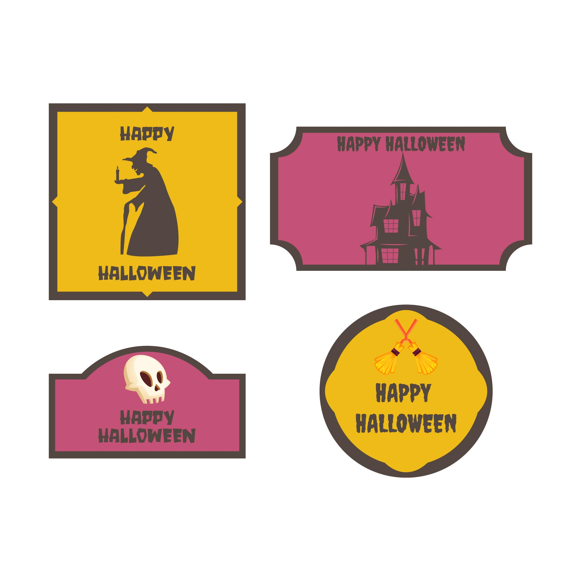 9 Images of Personalized Gift Free Printable Halloween Tags