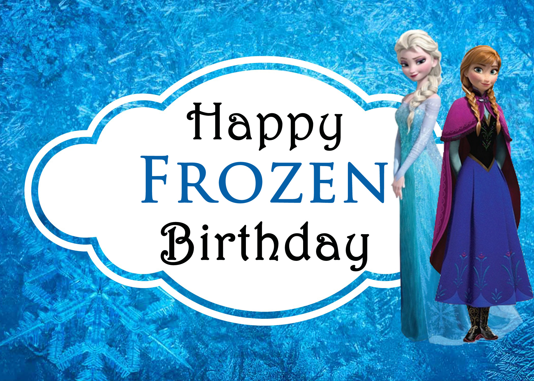 8 Images of Disney Frozen Free Printable Birthday Cards