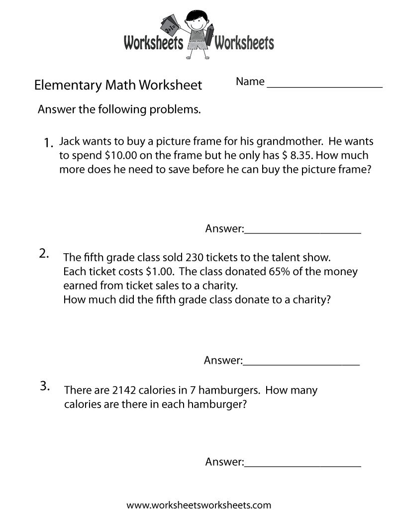 math worksheet : 8 best images of free printable math problems  printable math  : Free Printable 3rd Grade Math Word Problems Worksheets