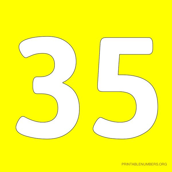 4 Images of Printable Yellow Number 12