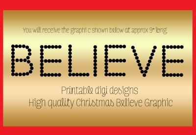 Polar Express Ticket Printable Believe 7 best images of believe sign ...