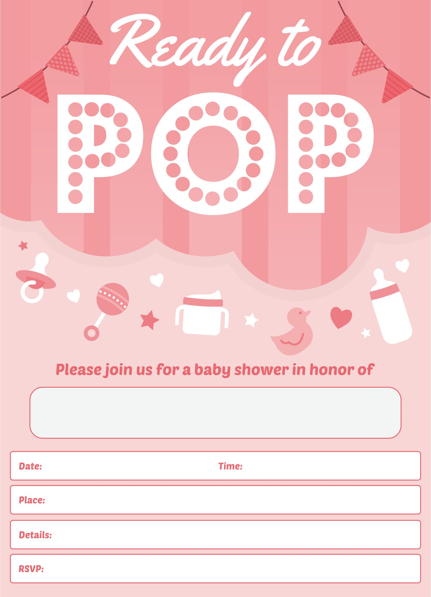 see ready to pop baby shower free printables ready to pop baby shower