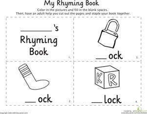 Rhyming Word Family Worksheets