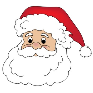 4 Images of Printable Santa Claus Face