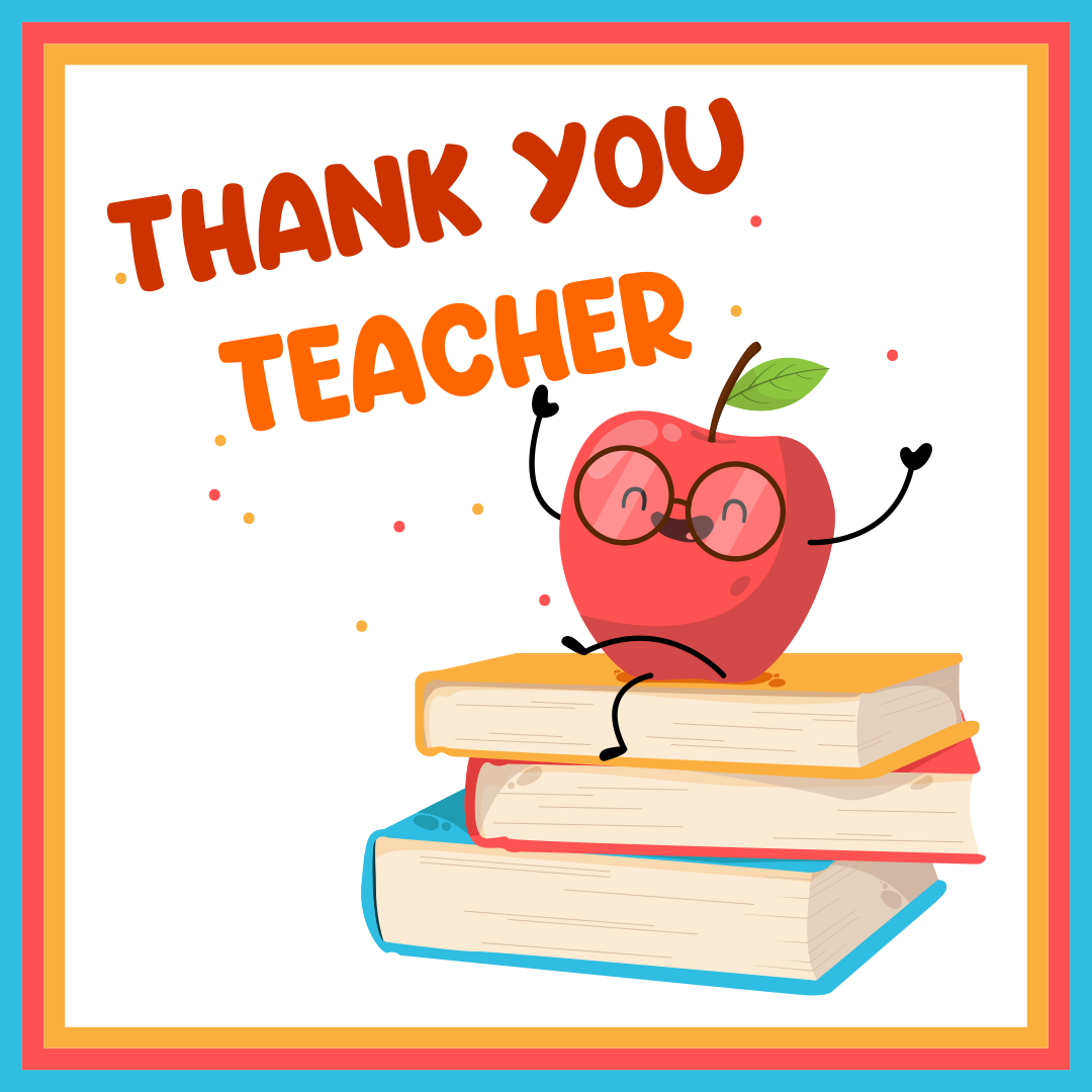 Thank You Card for Teacher Appreciation Printable
