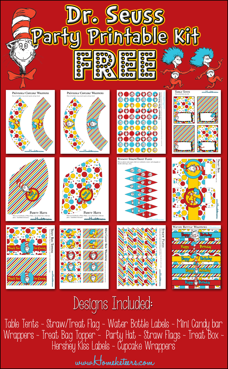 7 Images of Dr. Seuss Party Printables