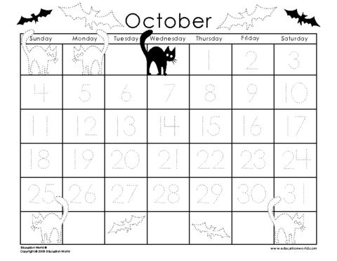 6 Images of Preschool Printable Calendar Templates 2013