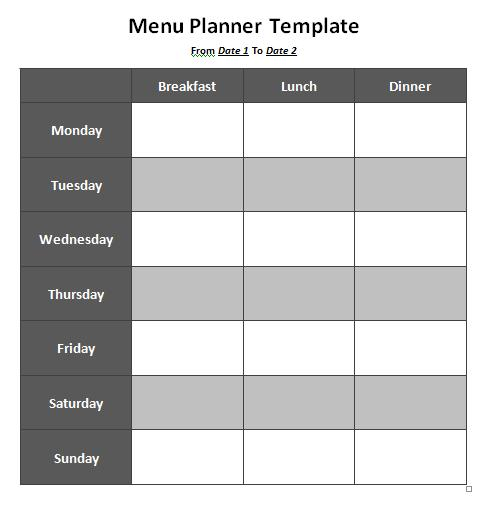 Lunch Menu Templates For Word Pictures to Pin PinsDaddy – School Menu Template