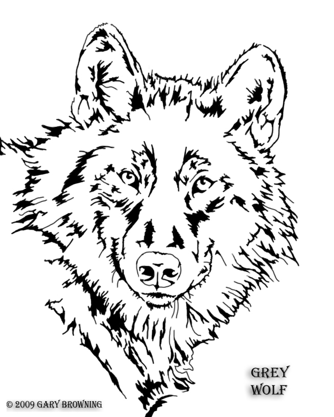 7 Images of Printable Wolf Patterns