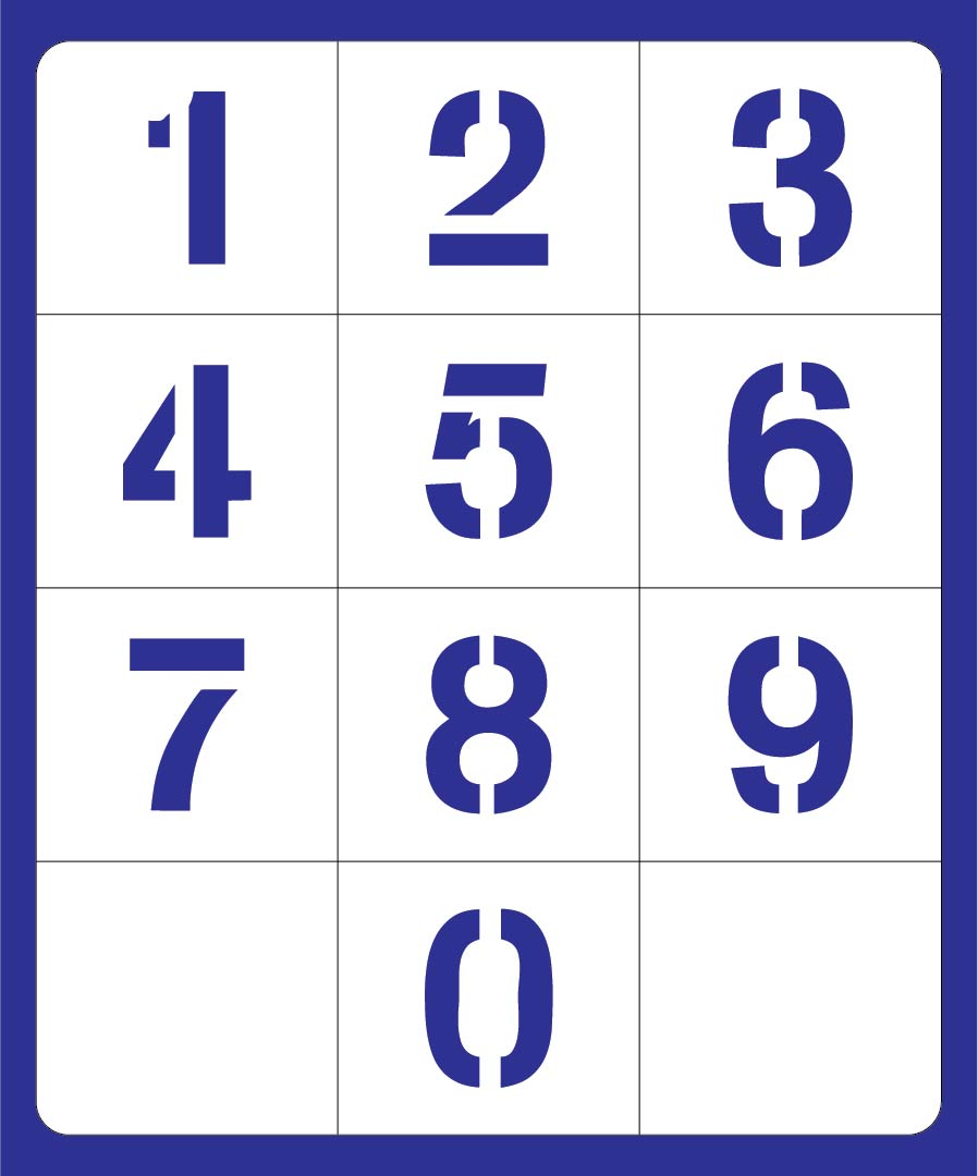 9 Images of 1 Inch Printable Number 3