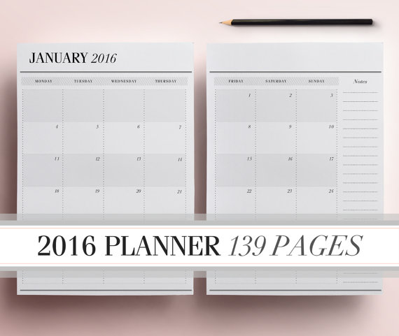 Daily Calendar Template 2016 : Best images of calendar printable daily planner