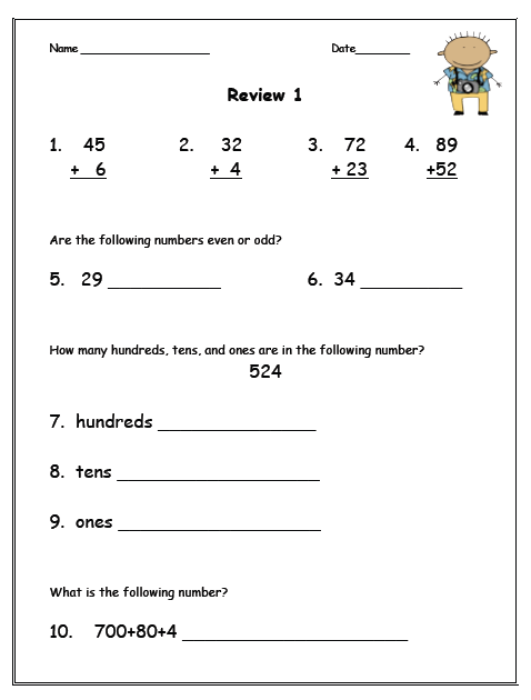 It's just a graphic of First Grade Math Test Printable in counting