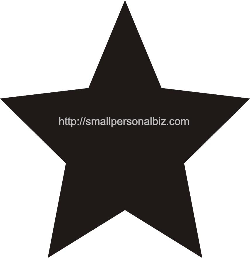 Different Size Star Templates Vosvetenet – Star Template