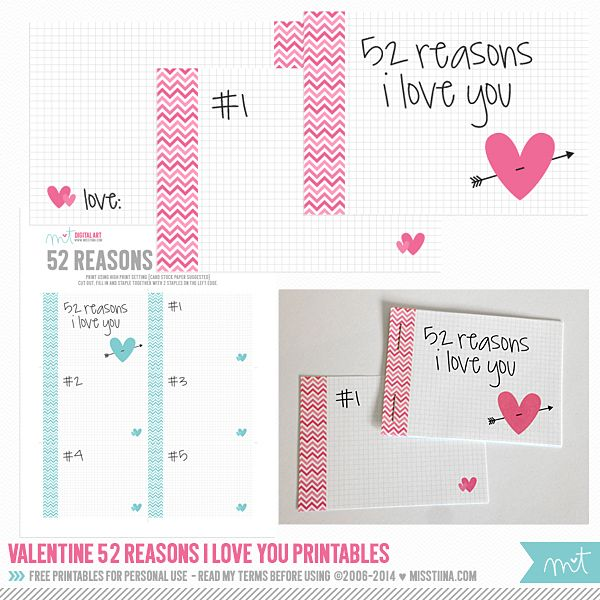 52 reasons i love you template free download - 7 best images of 52 reasons i love you printables 52