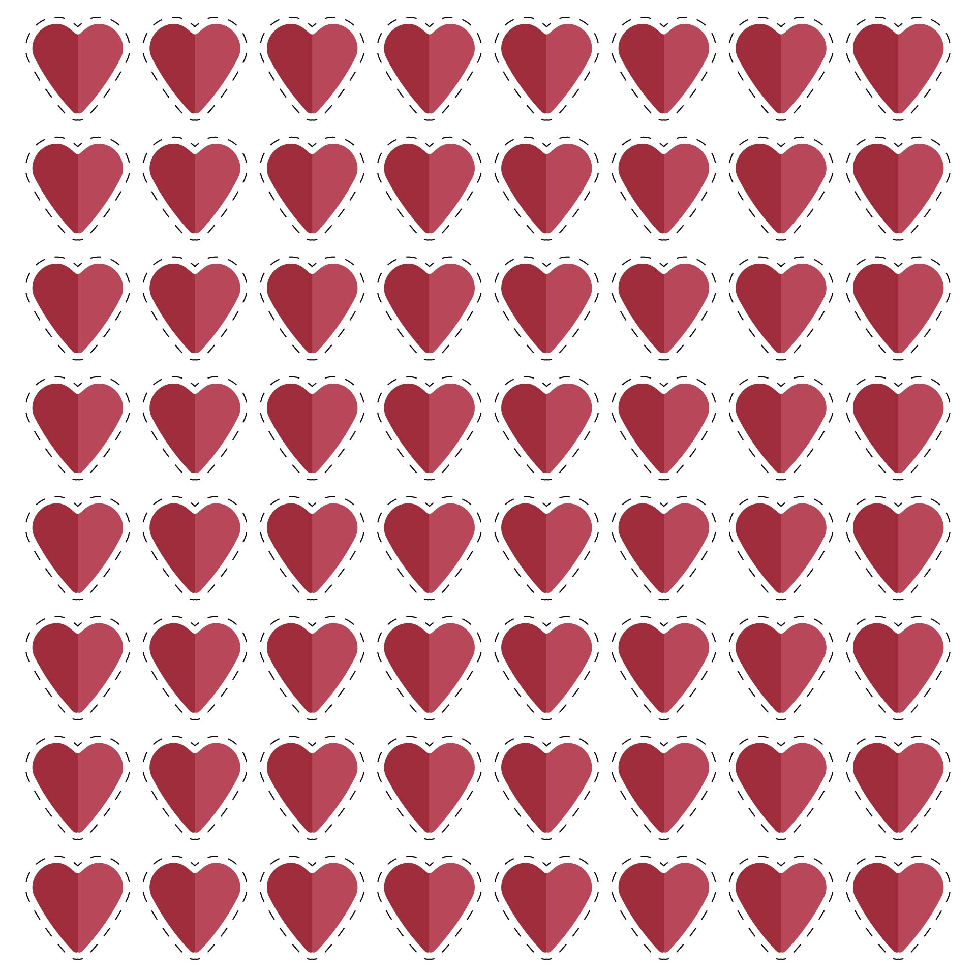 5 Images of 2 Inch Heart Template Printable