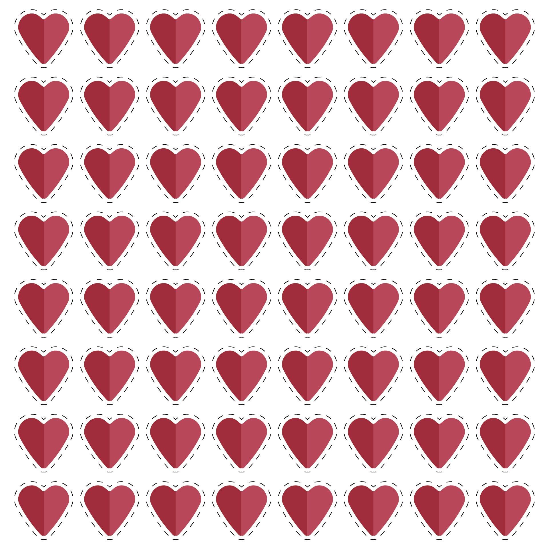 8 X 8 Heart Template