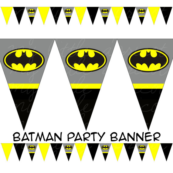 5 Images of Long Batman Banner Printable