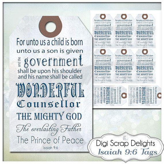 Bible Verse Christmas Gift Tag Printable