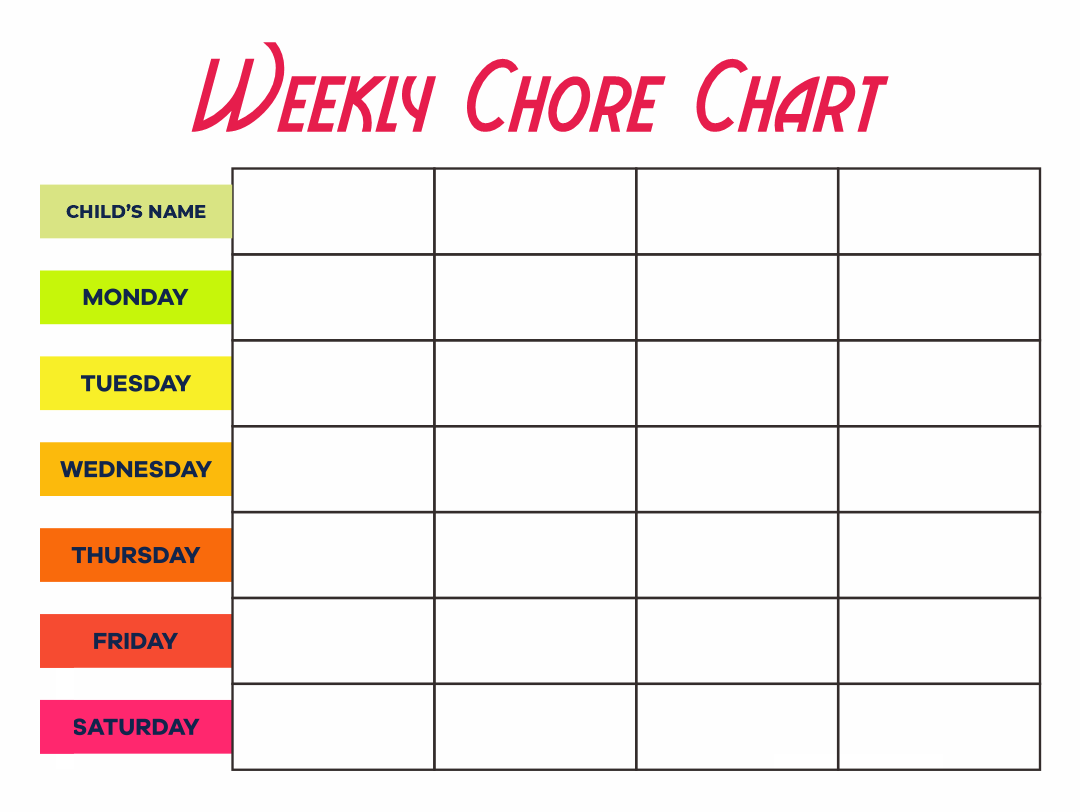 Monthly Chore Calendar : Best images of monthly chore chart printable templates