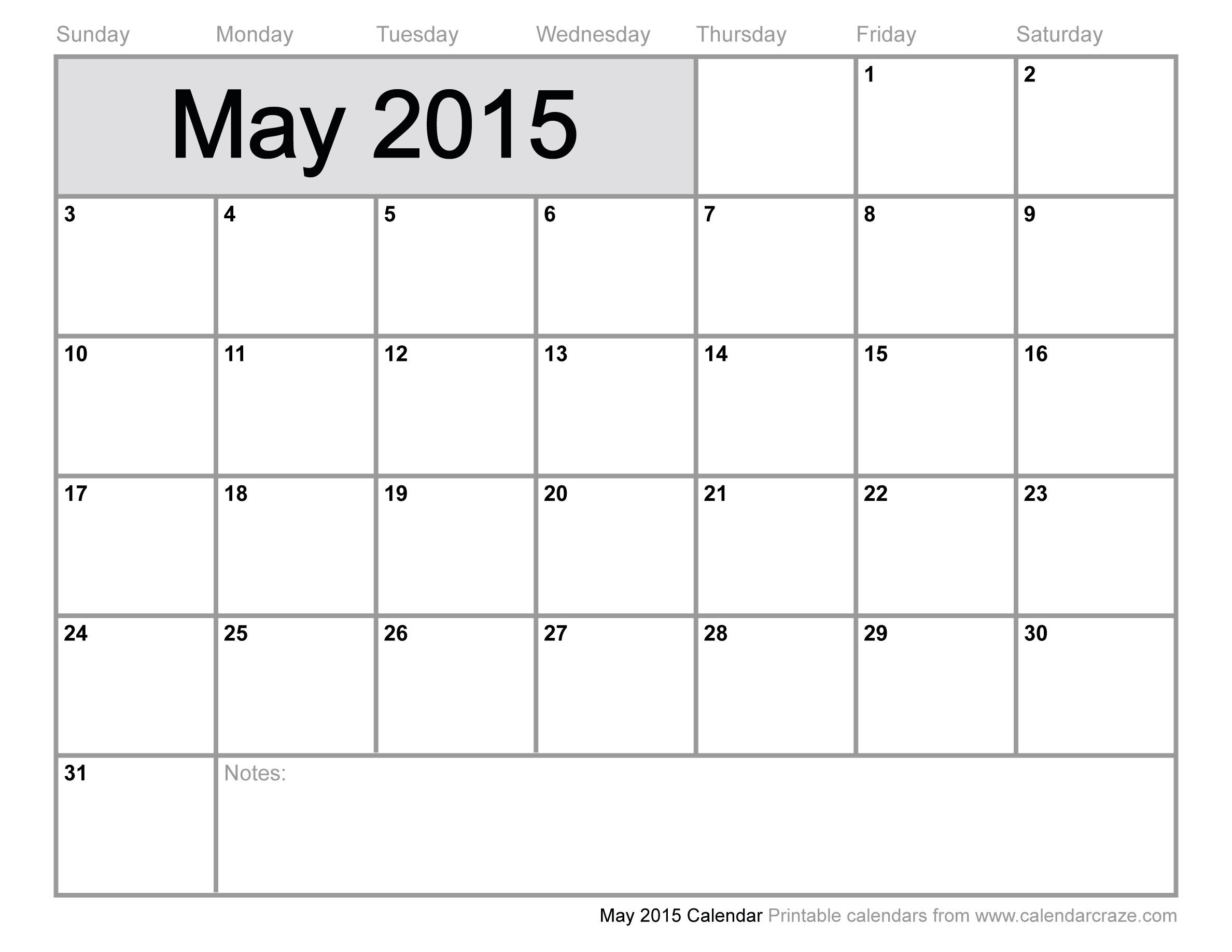 5 Images of May June 2015 Calendar Printable