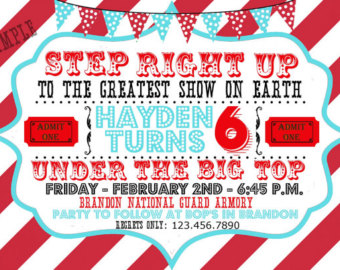 carnival party invitation templates  ctsfashion, Birthday invitations