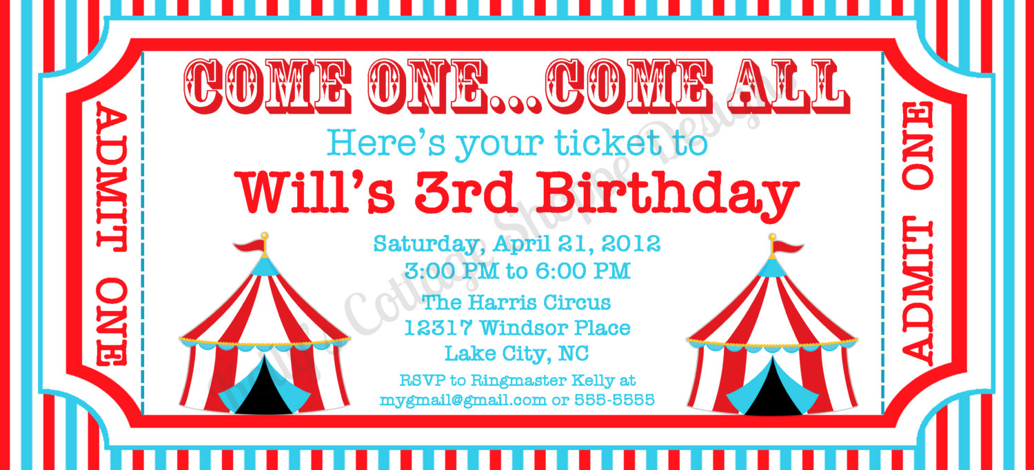 6 best images of circus ticket template printable blank circus invitation template free. Black Bedroom Furniture Sets. Home Design Ideas