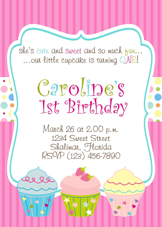 6 Images of Cupcake Party Invitation Printable
