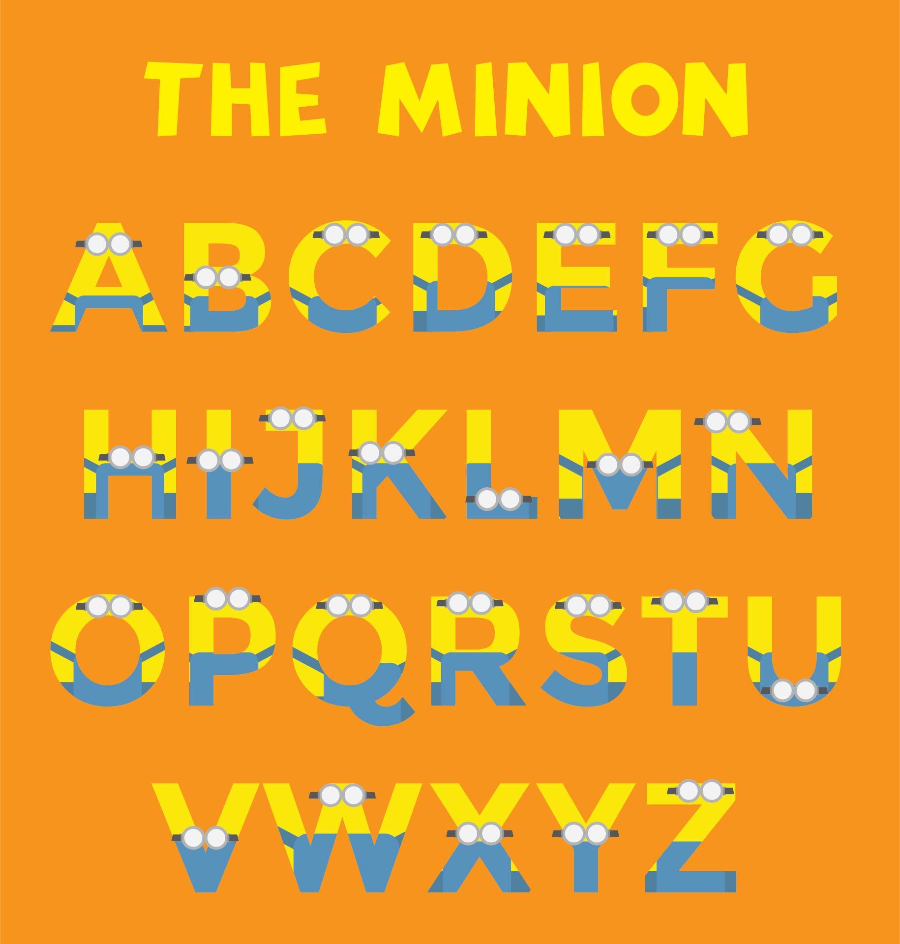 9 Images of Printable Minion Alphabet