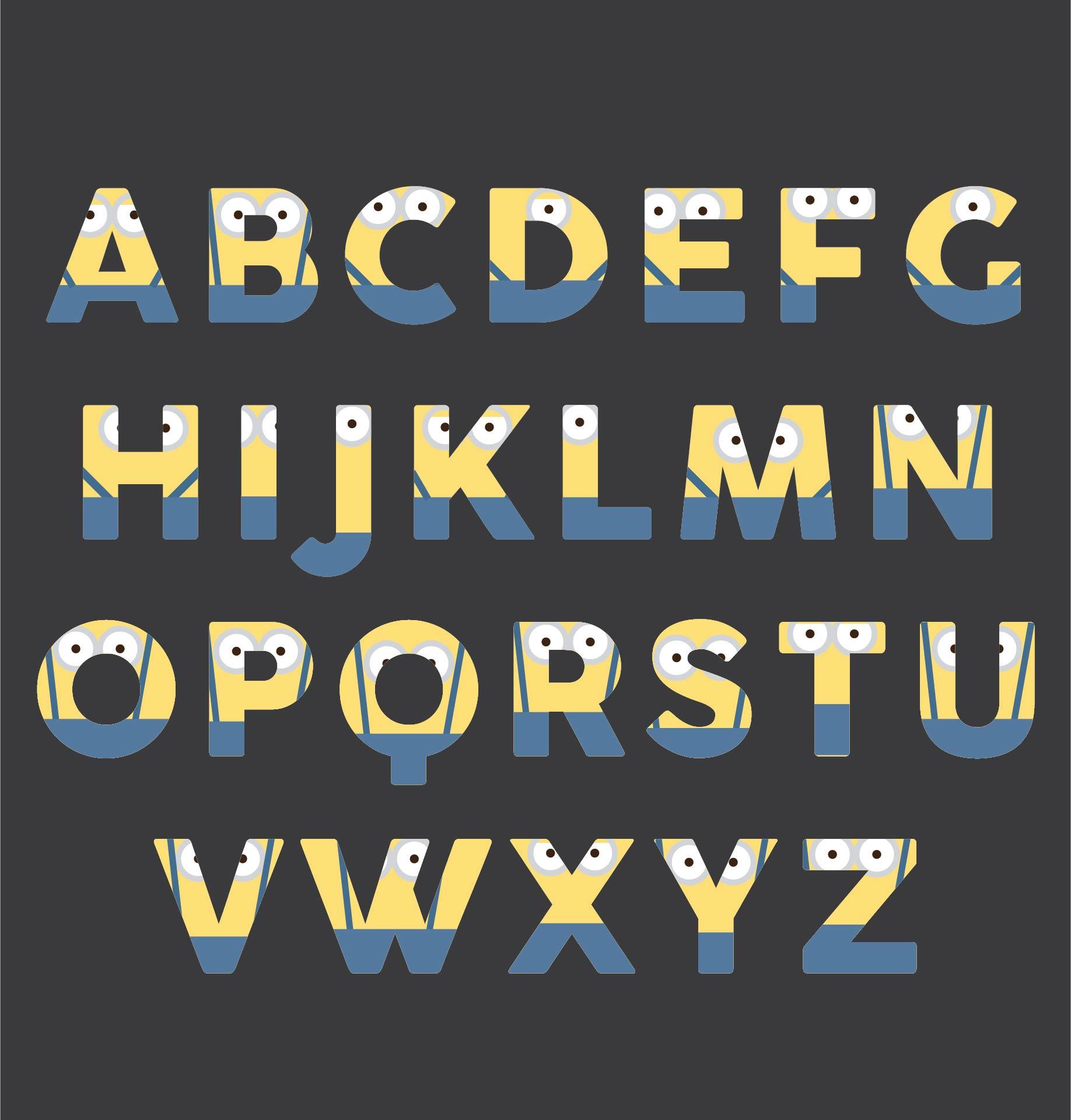 Despicable Me Minion Alphabet Printables