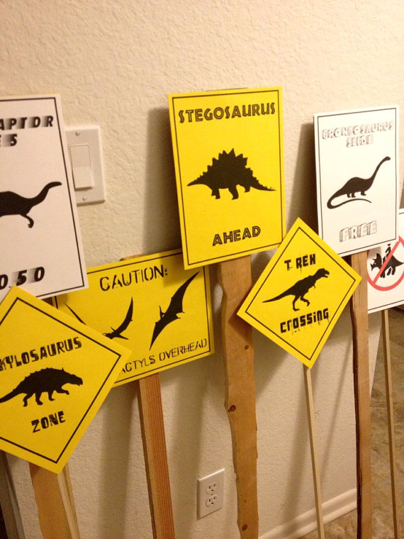 5 Images of PDF Dinosaur Crossing Printables