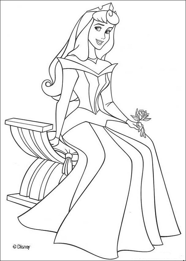 6 Images of Printable Princess Pages