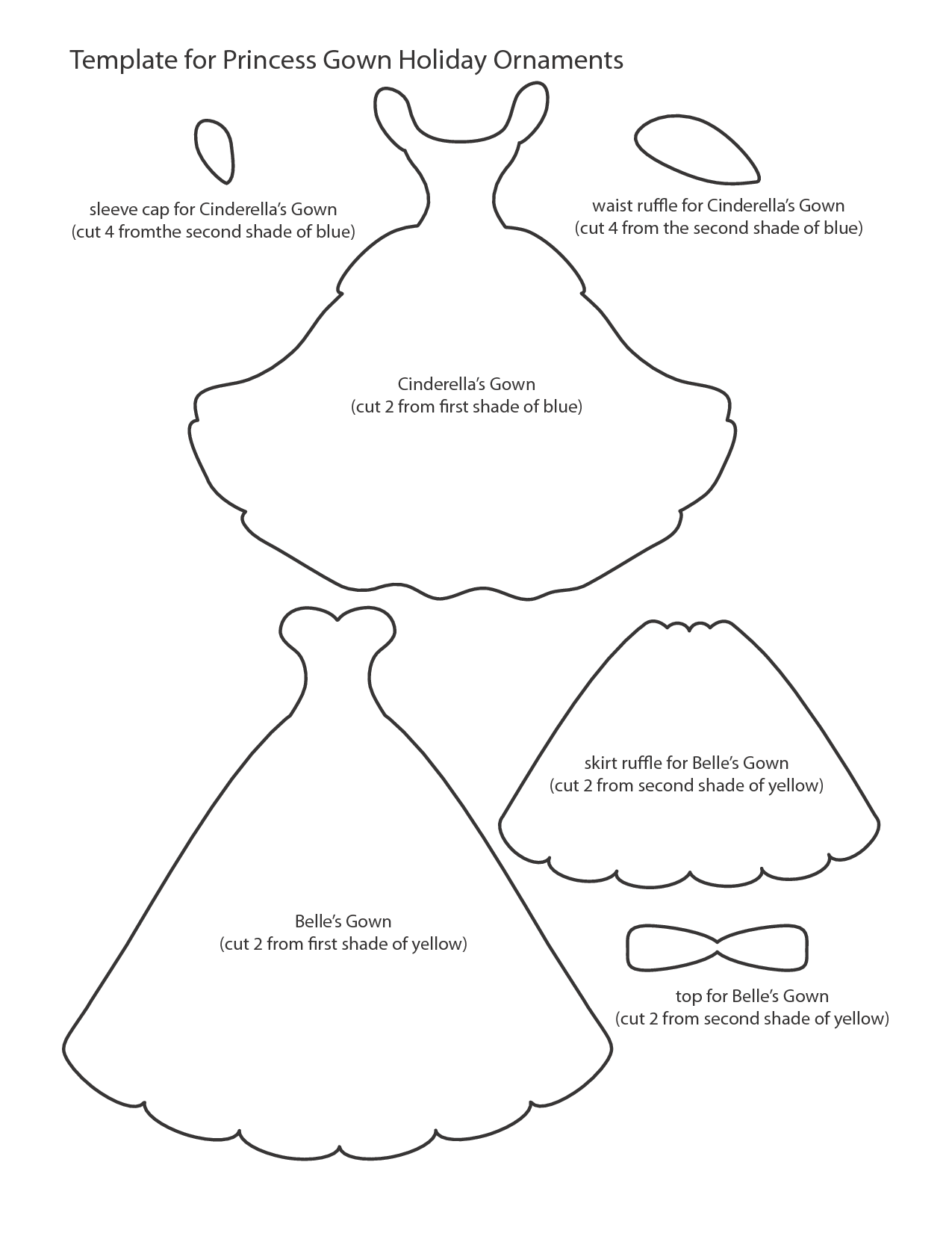 8 Best Images Of Printable Princess Template Free Princess Costume Printable