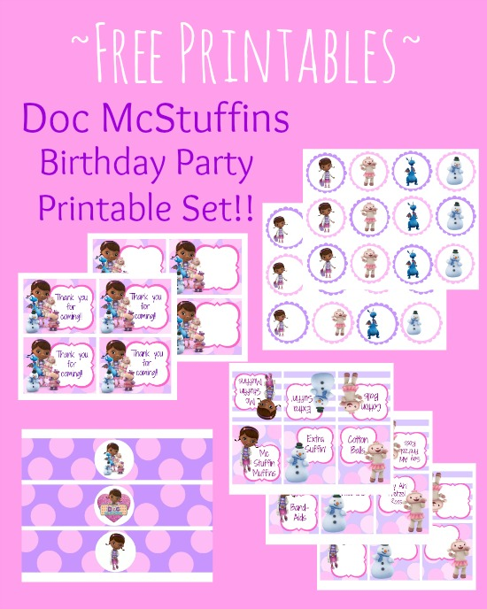 8 Images of Doc McStuffins Party Printables