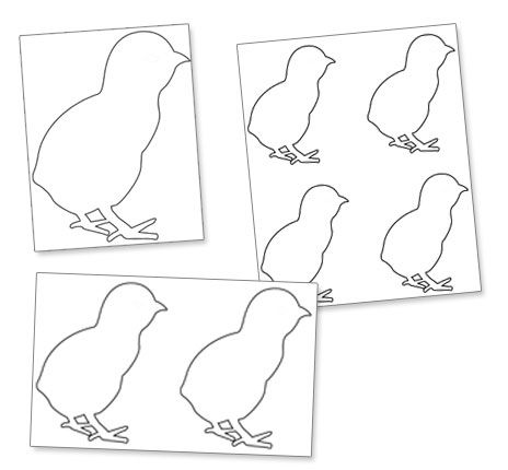 8 Images of 4 Printable Easter Chick