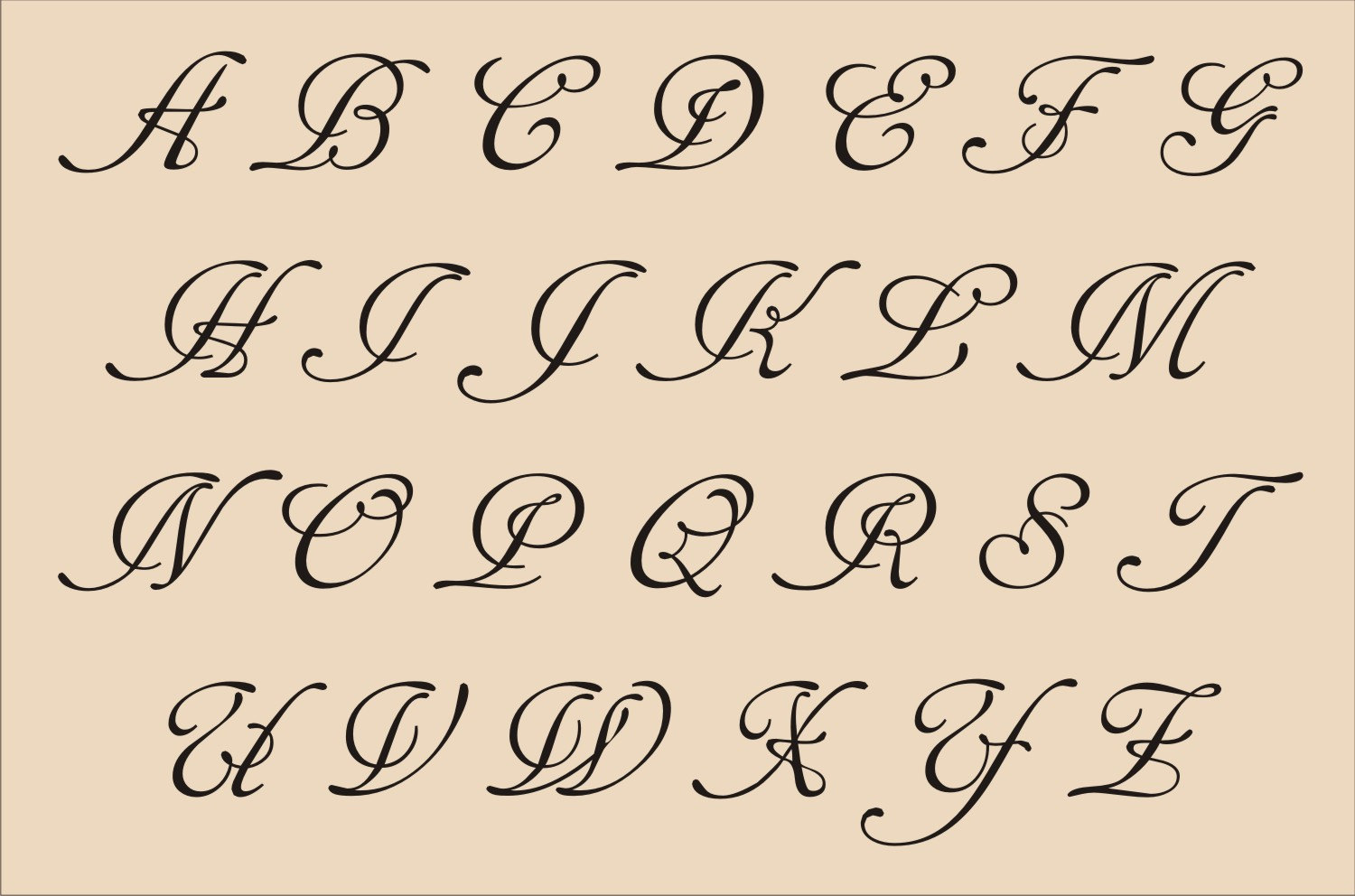 8 Best Images Of Printable Fancy Calligraphy Alphabet