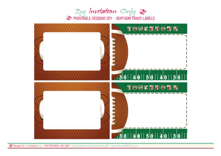 8 Images of Football Party Free Printables
