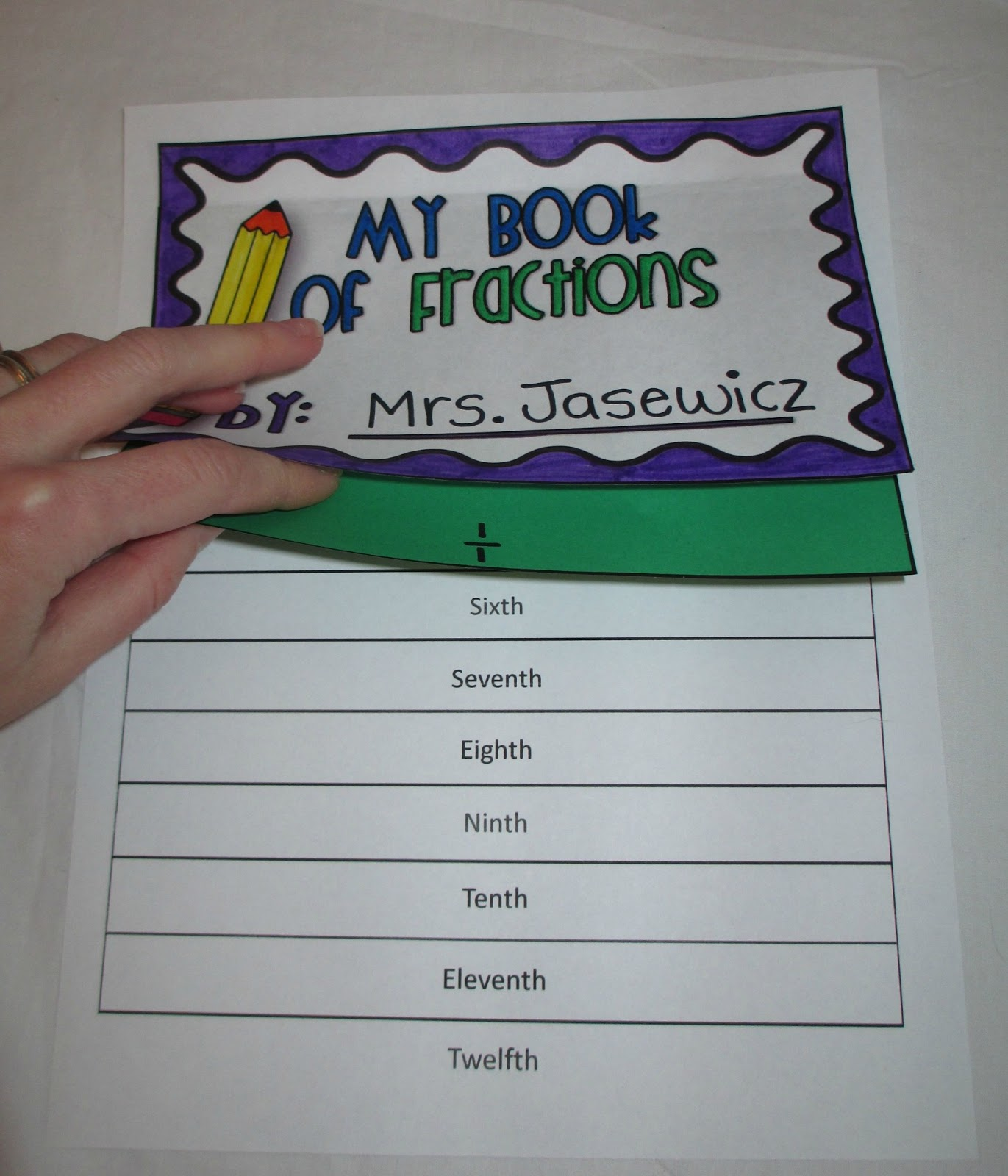 7 Images of Fraction Flip Book Printable