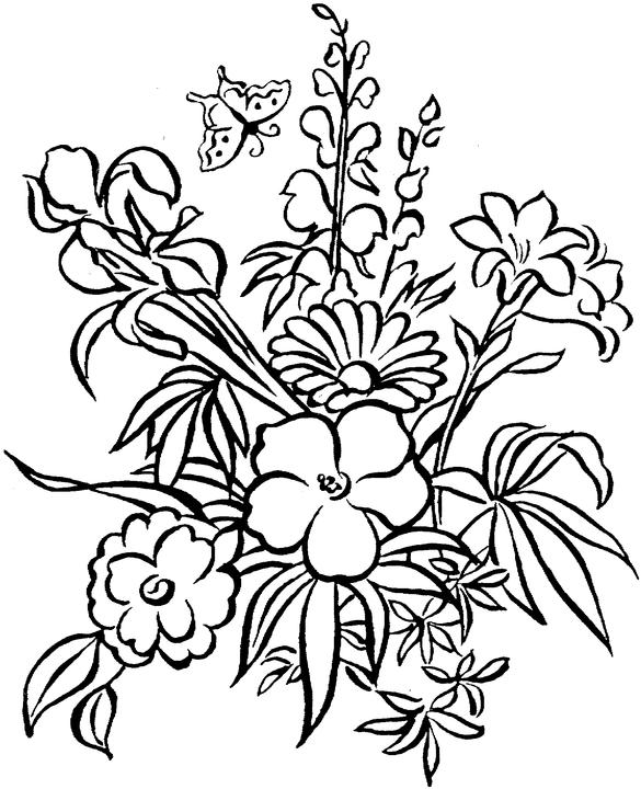 7 Images of Printable Adult Coloring Pages Flowers