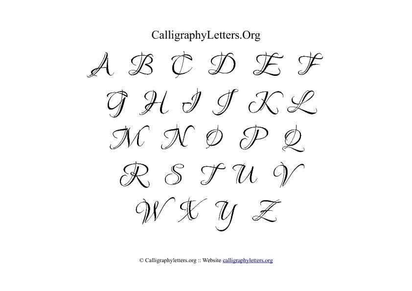 Best images of printable fancy calligraphy alphabet
