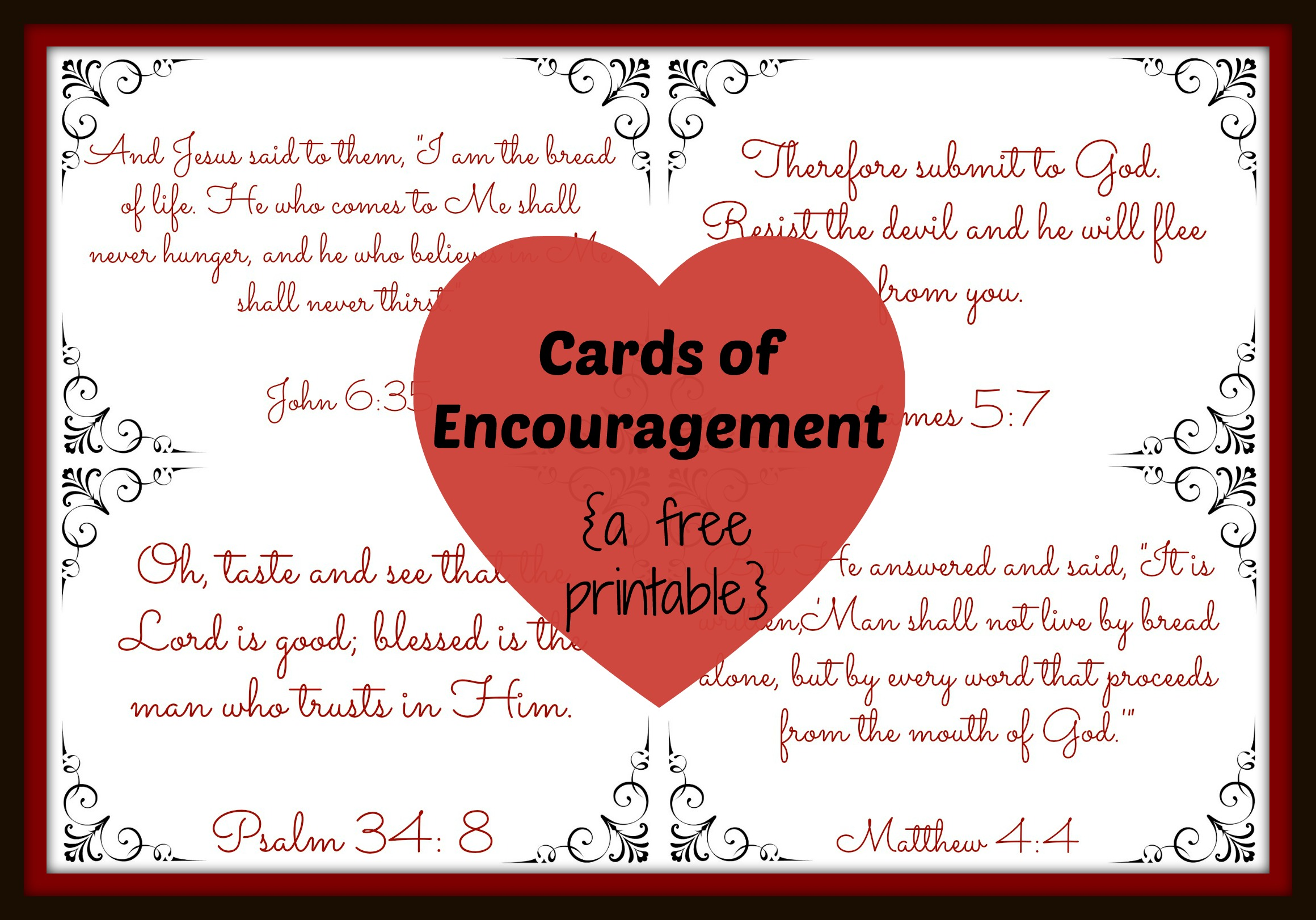Free Encouragement Cards