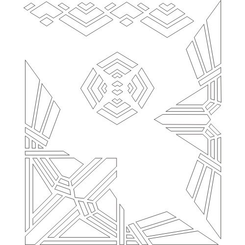 7 Images of Art Deco Printable Stencils