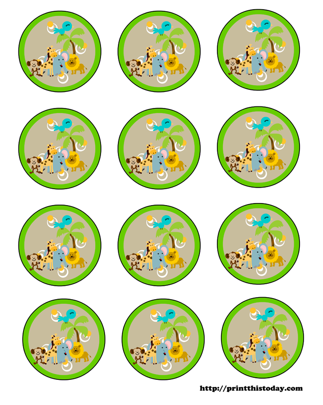 6 Images of Jungle Baby Shower Free Printables