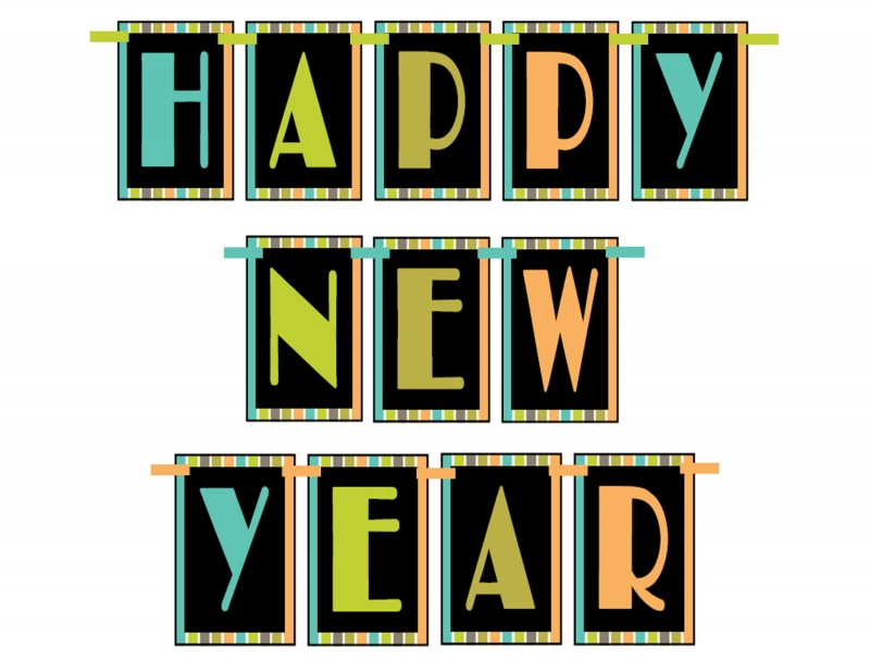 4 Images of Free Printable Banner Happy New Year