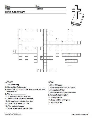 5 Images of Printable Bible Puzzles